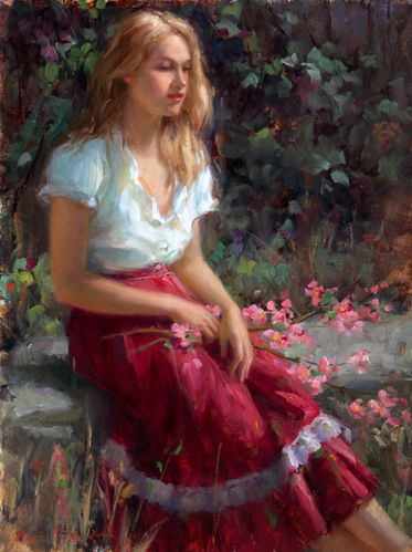Bryce Cameron Liston (1965-    ) : At the Edge of the Glade (signed : 24 x 18 cm)