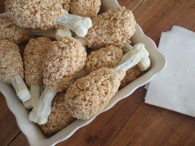 Turkey Leg Rice Krispie Treats. Such a cute idea for Thanksgiving!! #Fall #dessert