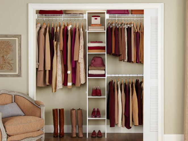 5-8' Closet Shelving Kit w/Laminate Tower | Closet Organization | Rubbermaid