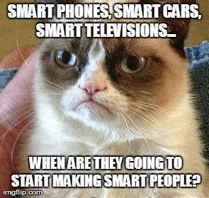 Smart phones, smart cars, smart TVs...when are thy making smart people?