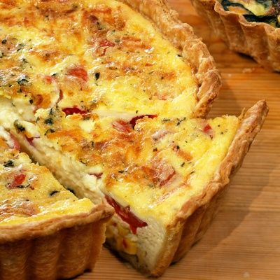 Corn and Tomato Quiche