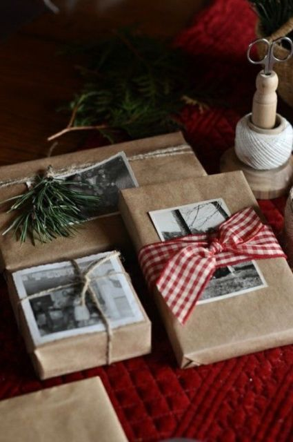 photos instead of gift tags / Disfunctional Design