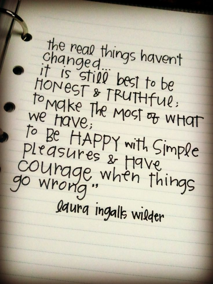 Inspiring quote by Laura Ingalls Wilder