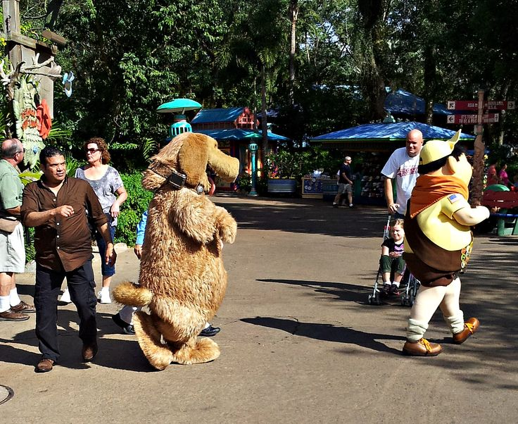 Dug and Kid from Up at Disney's Animal Kingdom