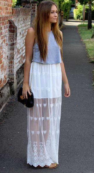Omg need! Get this Embroidered Maxi Skirt from Boohoo #trendslove