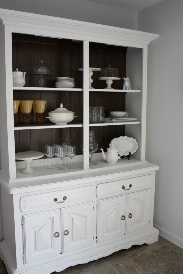 DIY painted china cabinet