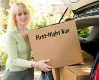33+ Helpful Moving Tips Everyone Should Know ~ Pack a first-night box full of all of the essentials! Toilet paper, first-aid kit, etc..