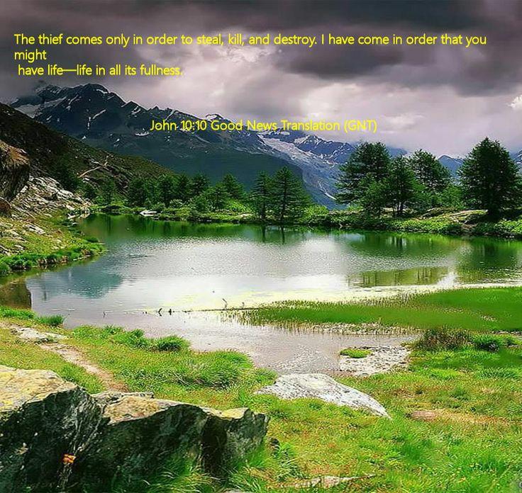 John 10.10 Good News Translation (GNT)