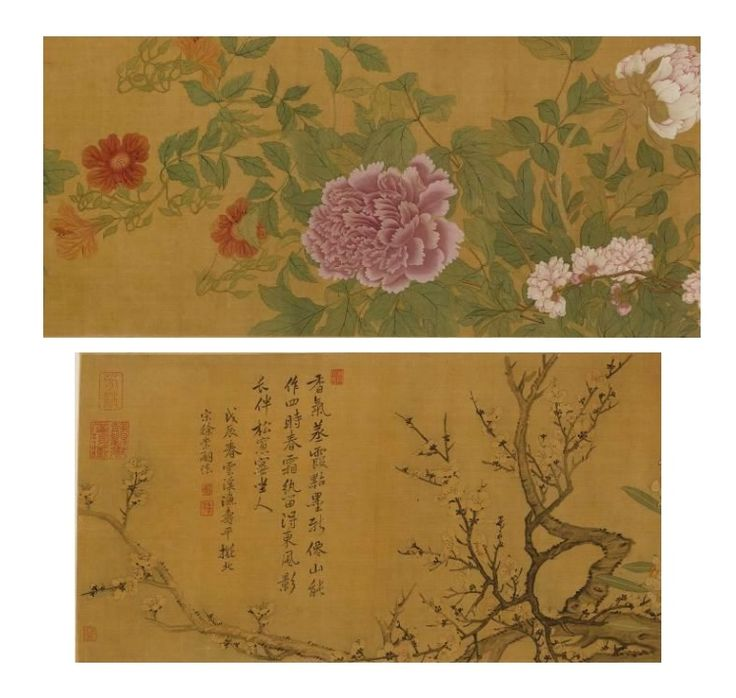 A Handscroll Painting Of Flowers By Yun Shouping (1633-1690) Qing Dynasty, Kangxi Period, Dated In Accordance With 1688 29.7 by 331.5 cm HK$1.2 – 1.8 million / US$150,000 – 230,000