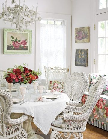 Love this wicker and tablescape.....