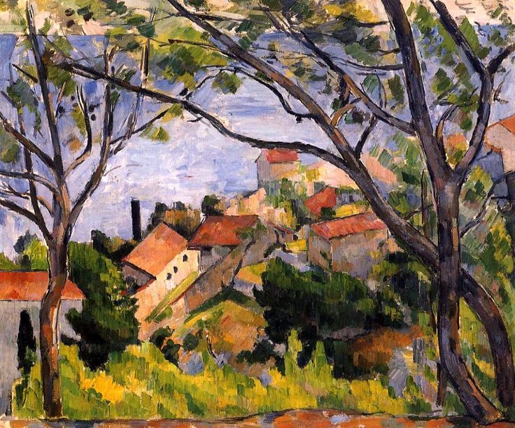 L'Estaque, View through the Trees - Paul Cezanne - 1878-1879