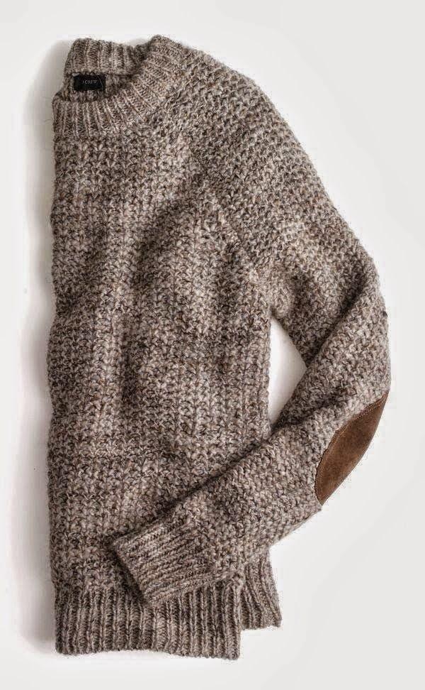 Elbow Patch Cozy Round Neck Sweater