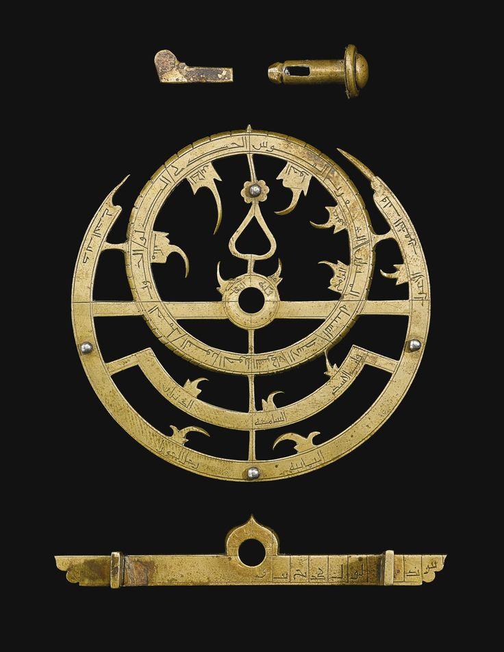 A royal brass astrolabe made by al-Ahmar al-Nujumi al-Rumi for the treasury of the Ottoman Sultan Bayezid II (r.1481–1512), Turkey, dated 911 AH/1505-6 AD | Lot | Sotheby's