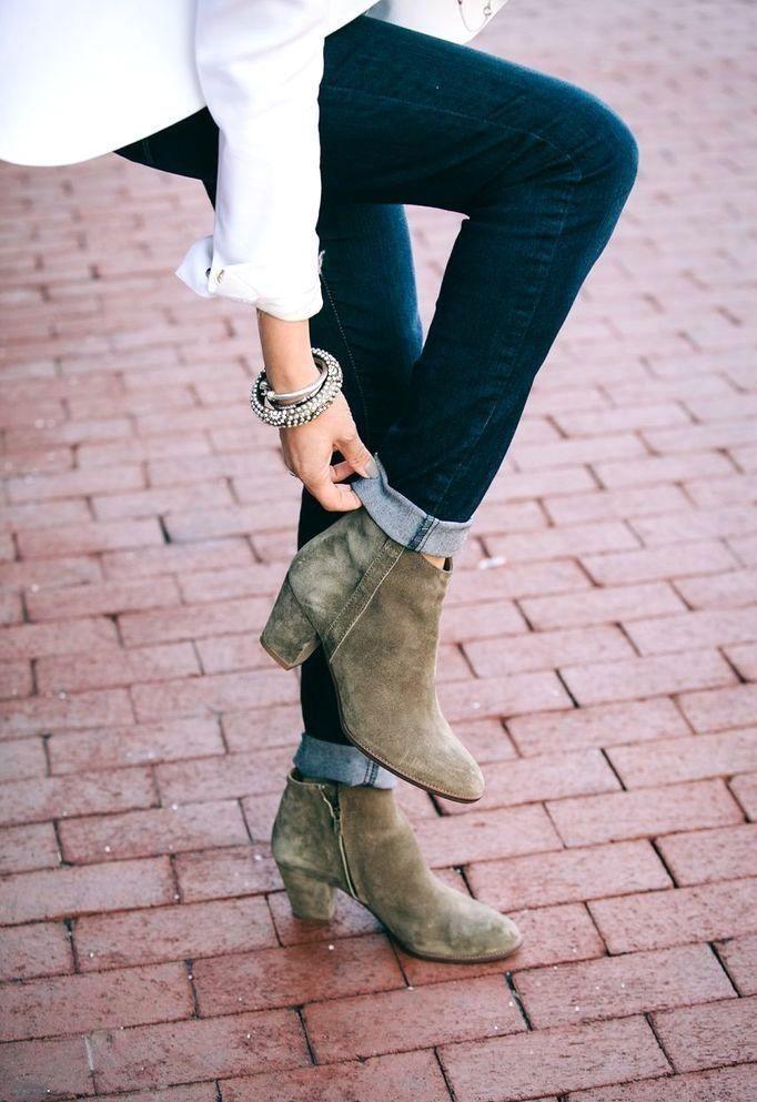 Fall boots.Chunky heeled booties!