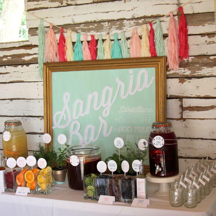 Sangria bar party! #inspiration