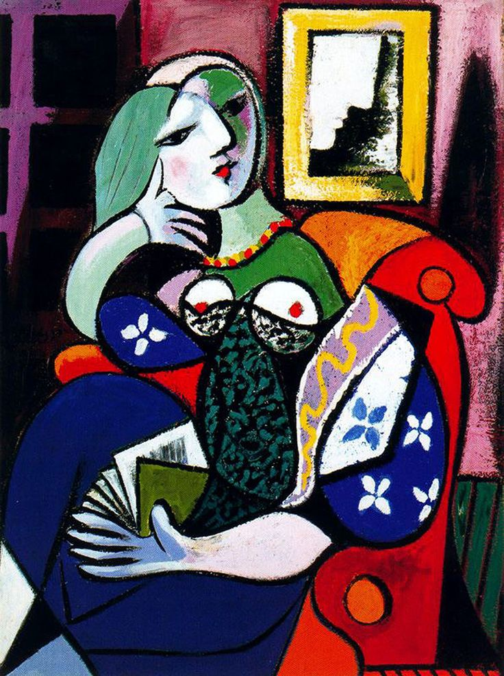 Woman With Book - Pablo Picasso