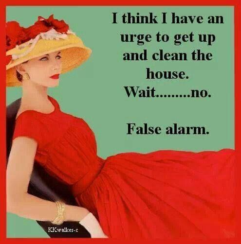 Clean the house. Wait.....no.     False alarm.