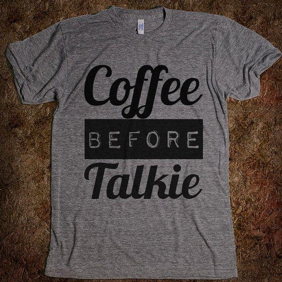 Coffee Before Talkie Tshirt Gray on Etsy, $28.99