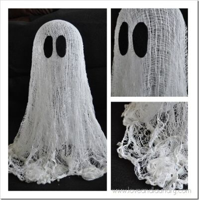 Floating Ghosts for Halloween {Craft}