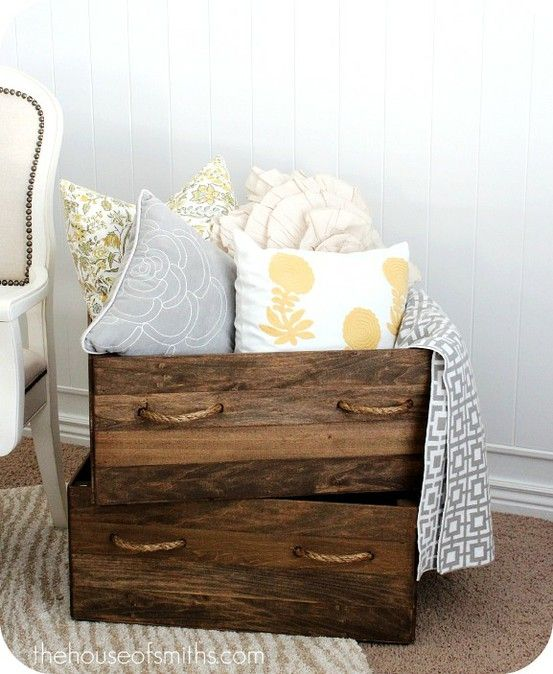 ideas for decorating with wood crates: Rustic Crafts & Chic Decor