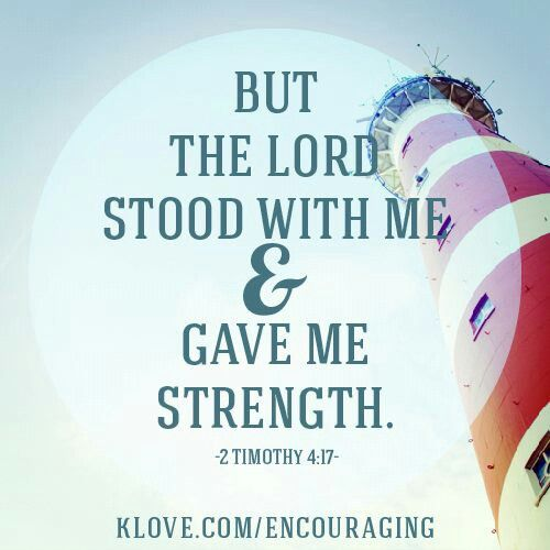 The Lord stands with me to give me strength! How wonderful He is & how comforting this is!  #Lord #strength #quote