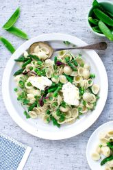 Orecchiette with Peas, Asparagus and Mascarpone