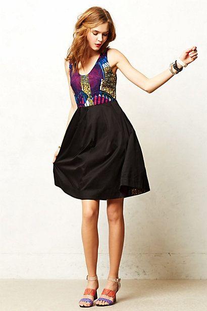 Anthropologie.  Note fabric design just peeking out inside of skirt.  Dutch Wax Print.