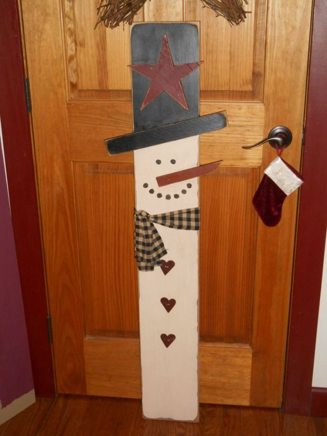 wood snowman   Snowmen Crafts   Pinterest