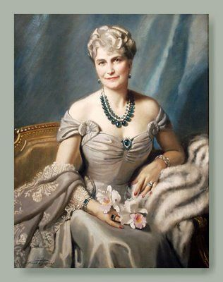 Marjorie Merriweather Post with her famed Cartier emeralds