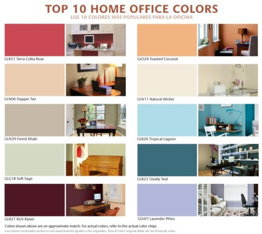 The Perfect Home Office Top 10 Colors Improvement
