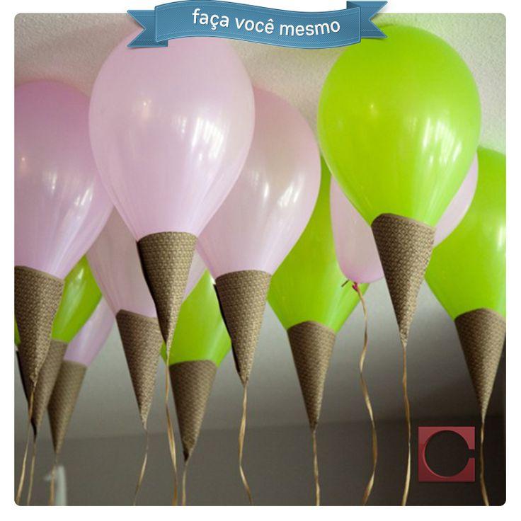 sorvete de balão