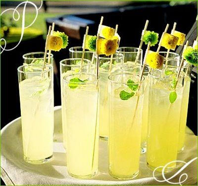 Another fun yellow signature cocktail! #cocktailhour #weddingcocktaildrinks #yellowwedding #weddinginspiration #weddingreceptiondrinks