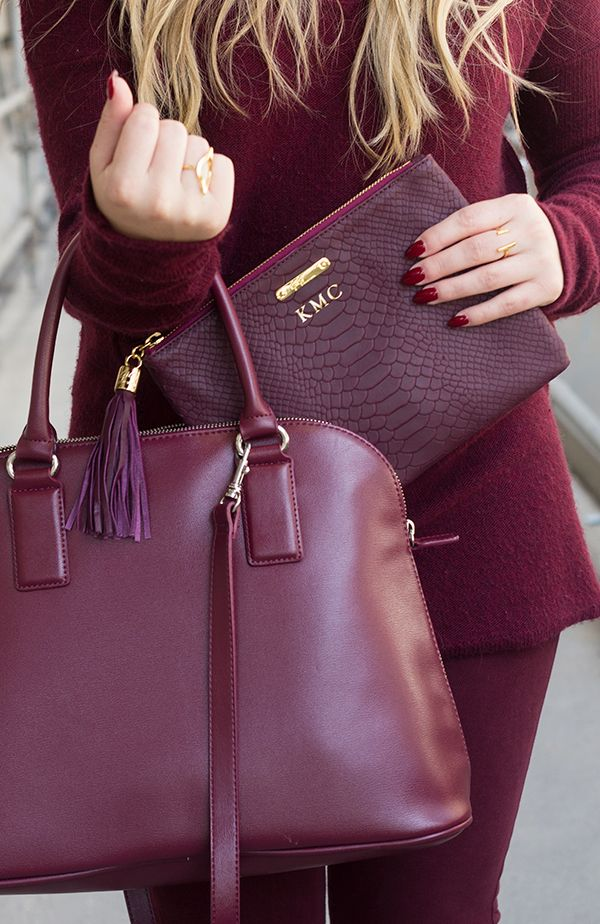 Monochromatic Burgundy
