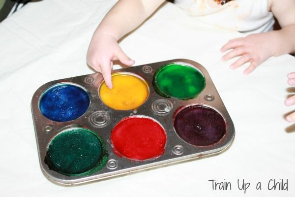 Train Up a Child: Oh Baby! Edible Sensory Paint