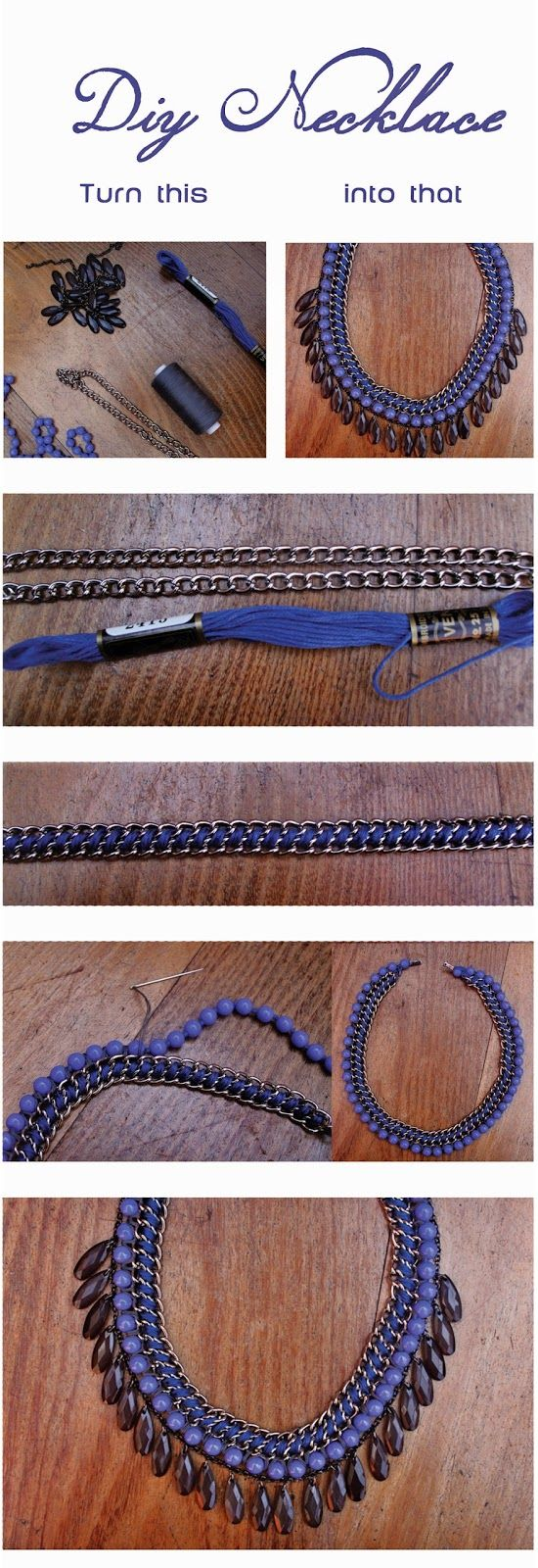 Happy Home Made Stuff: DIY necklace with beads. Easy tutorial