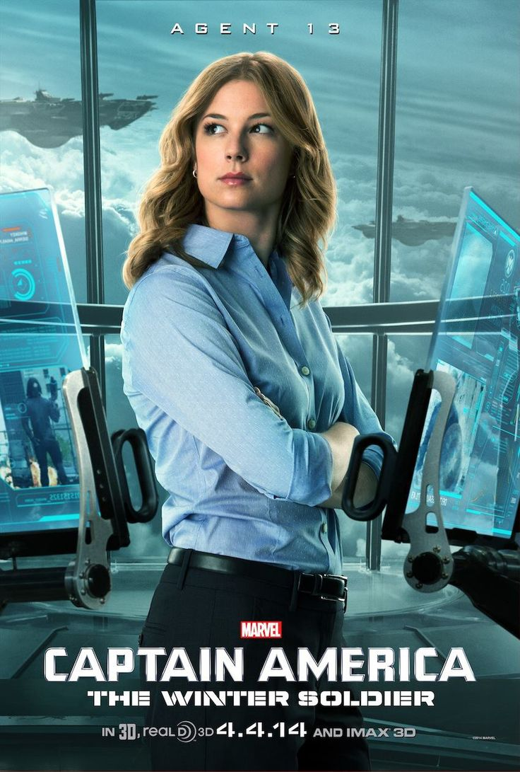 Agent 13/Sharon Carter poster for Captain America: The Winter Soldier. (So excited for another BAMF Marvel heroine - fingers-crossed that she's as amazing as her aunt, Peggy Carter.)