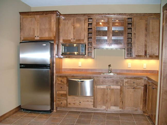 LDK bar area with mini dishwasher. | Custom Lower Levels | Pinterest
