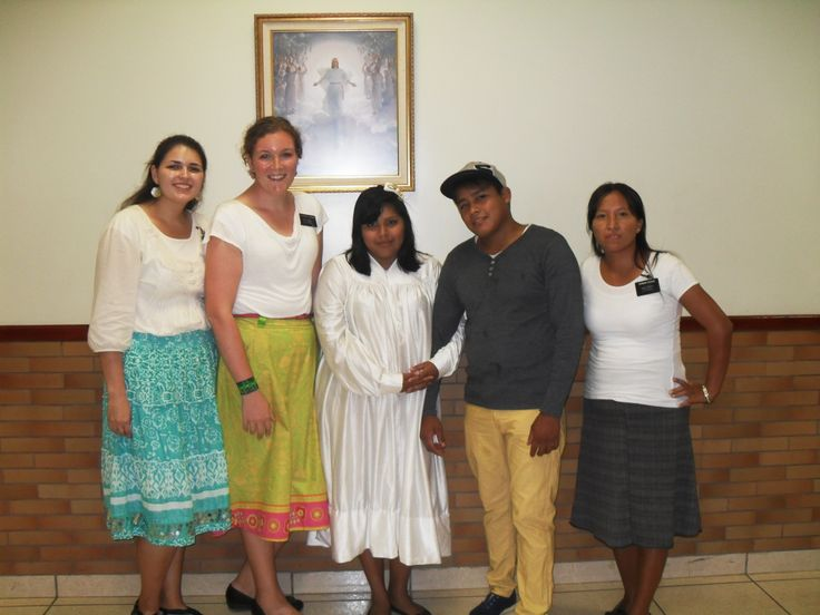 Vielka`s baptism! There are 3 of the missionaries that taught her. Hermana Escobar is the other Hermana. She and her companion taught Vielka, and we helped Vielka get married.