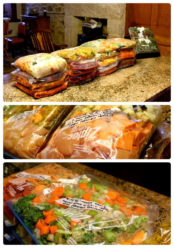 Crockpot Freezer Meals. I like this one BC it has more variety of meals than just the standard stews and meat/veg