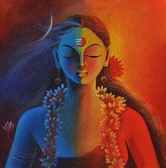 ardhanarishvara painting