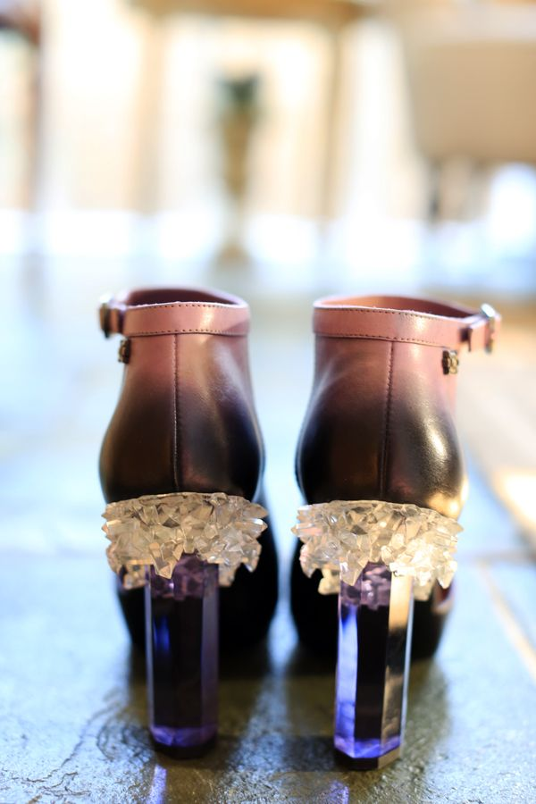 Chanel Crystal Heel Booties