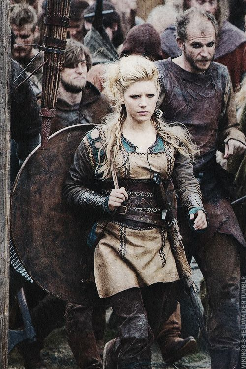 Vikings - Lagertha is a women you don't reckon with. Love a strong female character.  Love, love, love. Hopefully she doesn't turn all soft for the next season.