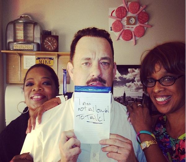 Image result for Oprah and Tom hanks