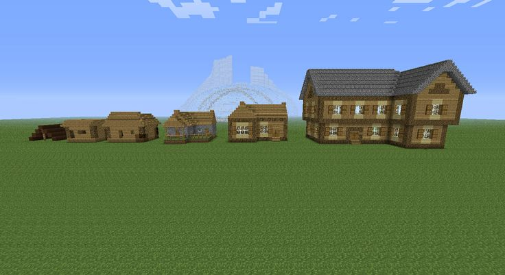Evolution Of Minecraft Houses.