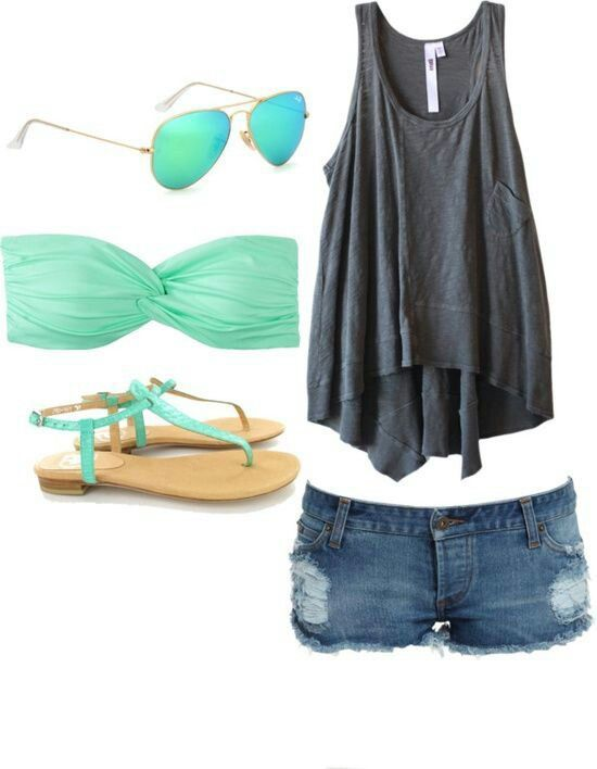 I really like this, it's basically like my outfits from last summer. Light material and just cute colors. Easy.
