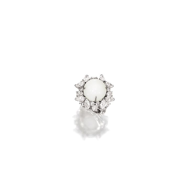 Clam Pearl and Diamond Ring, Henry Dunay | Lot | Sotheby's
