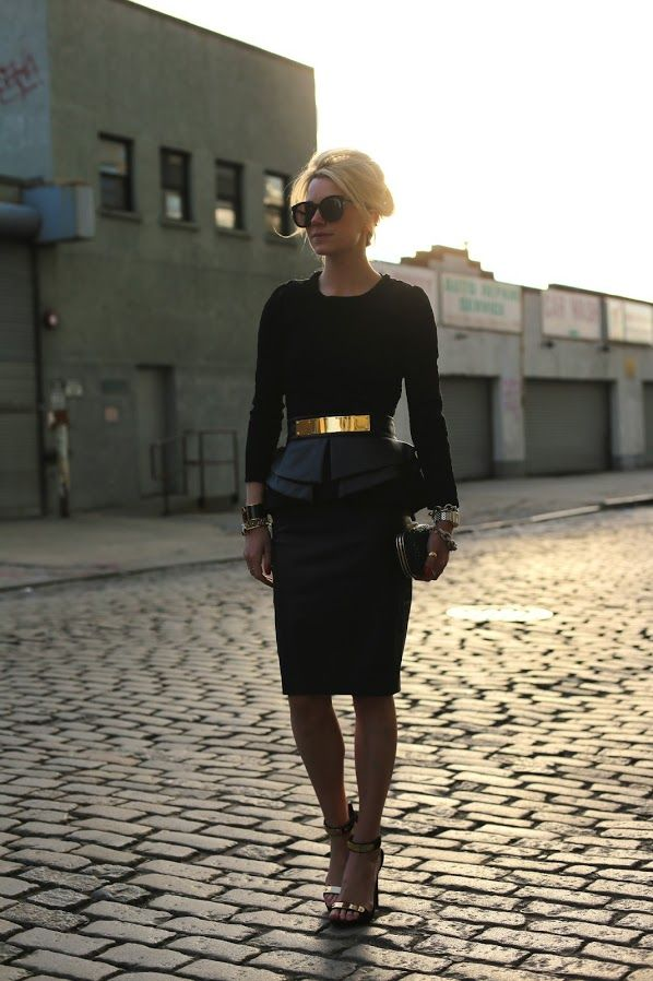 Skirt: Zara. Shoes: Tory Burch. Top: Zara. Belt: ASOS. Sunglasses: Karen Walker 'Super Duper'. Nails: Essie 'Hip-Anema'. Clutch: Anya Hindmarch. Jewelry: Margaret Elizabeth, Stella and Dot, Hermes, David Yurman, Michele Watch.