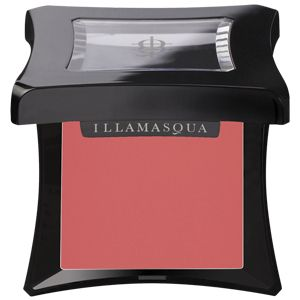 Dixie is a warm coral pink, dewy finish cream blusher from Illamasqua
