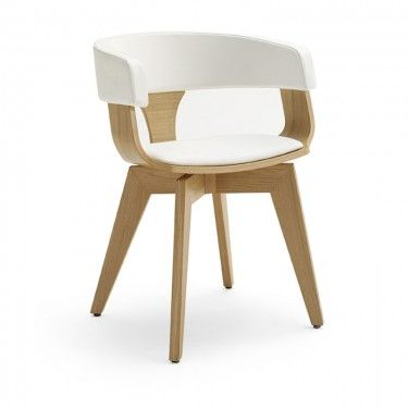 chloe armchair white and beechwood