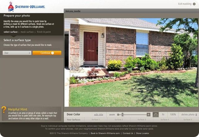 sherwin williams color visualizer for the home pinterest on benjamin moore exterior paint visualizer id=15144